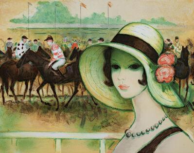 Francois Batet, 'Une Parisienne a Longchamp', 1986