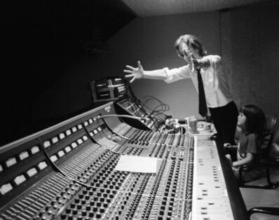 Bob Gruen, 'John Lennon showing Sean Lennon the mixing table at The Hit Factory, NYC.',  August-1980
