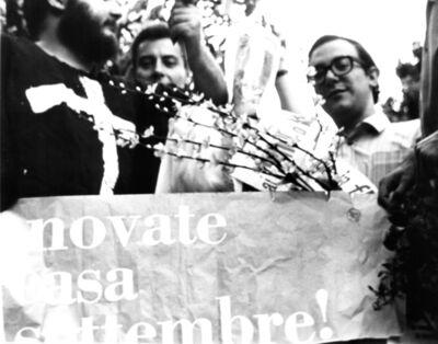 Giuseppe Desiato, 'Manifestazione-happening con Adriano Spatola, Napoli ', 1967