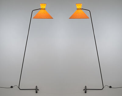 Robert Mathieu, 'Pair of floor lamps', ca. 1953