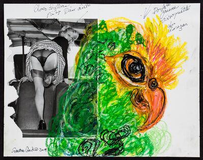 Simone Gad, 'Perroquette Verte/Elmer Batters Pinup', 2019