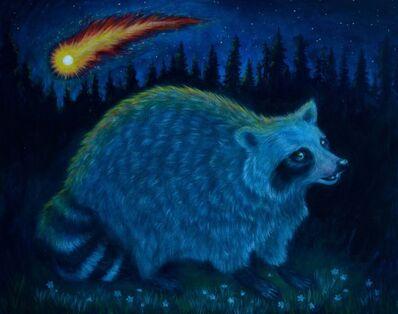 Colete Martin, 'Raccoon Witnessing Life Ending Comet', 2020