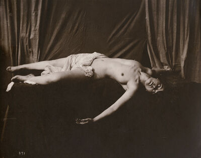 Anonymous Nudes, 'Draped Reclining Female Nude', 1912c/1912c
