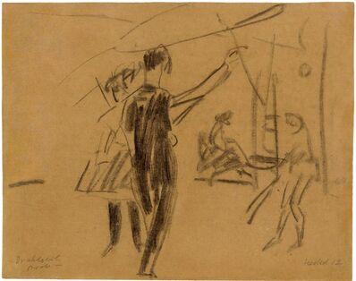 Erich Heckel, 'Drahtseilprobe', 1912