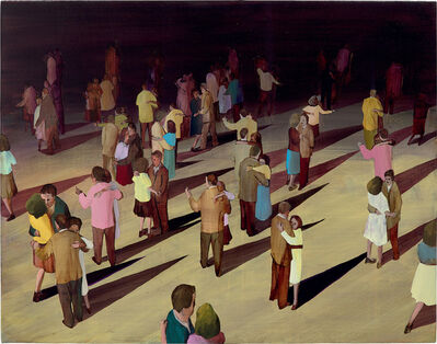 Ryan Mrozowski, 'Couples with geometric shadows', 2009