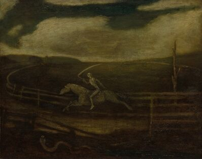 Albert Pinkham Ryder, 'The Race Track (Death on a Pale Horse)', c. 1896-1908