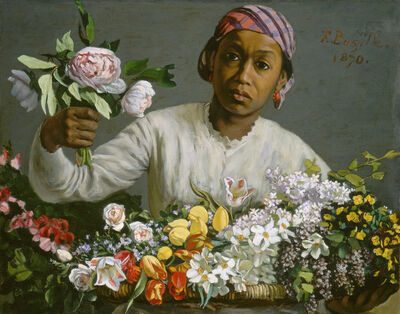 Frédéric Bazille, 'Young Woman with Peonies', 1870