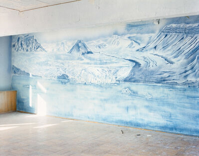 "Jacqueline Hassink, 'Room with Drawing 1, The Culture House, 78°39'20.9""N 16°18'24.1""E, Pyramiden, Svalbard, Norway, Summer, 22 August, 2016', 2016"