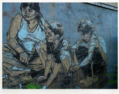 Swoon, 'Pigeon Feeding Family, Brooklyn ', 2005