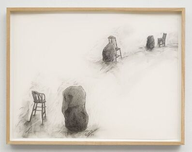 Peter Shelton, 'waterrockredchair', 1995