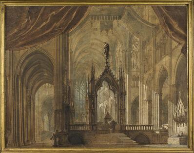 François-Marius Granet, 'Saint Denis Basilica', ca. 1824