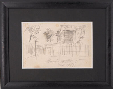 Maurice Utrillo, 'Montmartre, the Moulin de la Galette', 1923