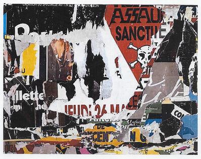 Jacques Villeglé, 'Place La Fayette', 1988