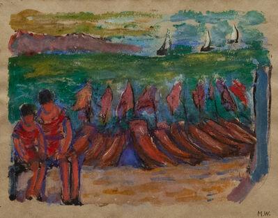 Marianne von Werefkin, 'Barche sulla spiaggia', 1920-1938