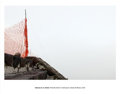 "Humberto Ríos, 'Deceso no. 6, infarto, Pirámide del Sol, Teotihuacán, Estado de México (from the series ""Forensic Documents"")', 2013"