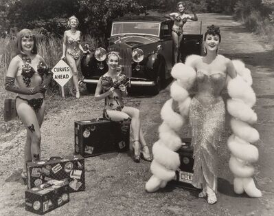 Ralph Steiner, 'Gypsy Rose Lee and Troupe', 1950