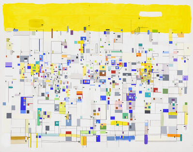 Bart Stolle, 'Self-organizing with yellow', 2017