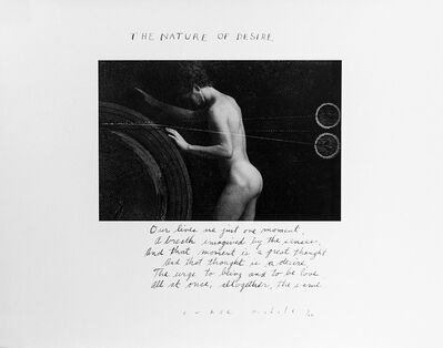 Duane Michals, 'The Nature of Desire', 1986