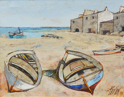 Charles Levier, 'Barques (Boats at Harbor) ', 1920-2003