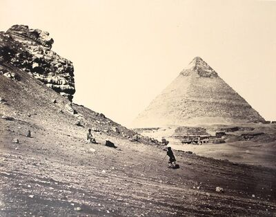 Francis Frith, 'The Second Pyramid from the Southeast, Egypt.', ca. 1858