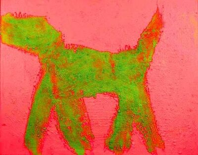 Peter Mayer, 'Dog (Green on Red) (5)', circa 1990