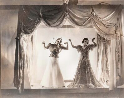 Cecil Beaton, 'Mock Puppet Theatre (Angelica Welldon and Nina Matleva) for Vogue', 1936