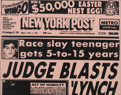 Andy Warhol, 'New York Post Front Page (Easter)', 1983
