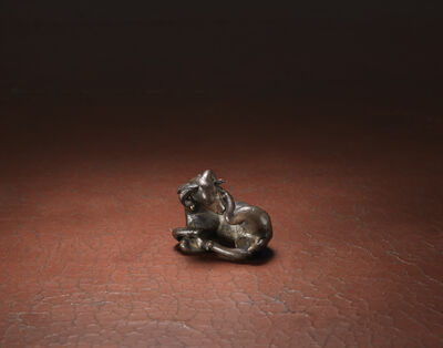 Unknown Artist, 'A bronze weight in the form of a recumbent ram', Yuan/early Ming dynasty, 14th, 15th century