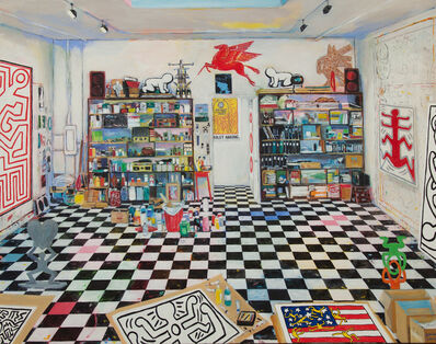 Damian Elwes, 'Keith Haring's Studio, (New York City, 1988),', 2018