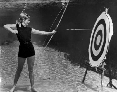 Bruce Mozert, 'Silver Springs Underwater (Archery Action)', 1940-1970