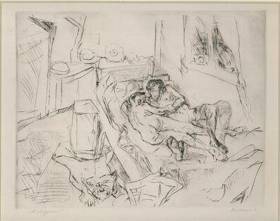 Max Beckmann, 'Liebespaar I', 1916