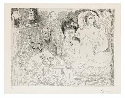 Pablo Picasso, 'Autour de la Célestine: Collation au Jardin, avec Jeune Bacchus Gras', 1968