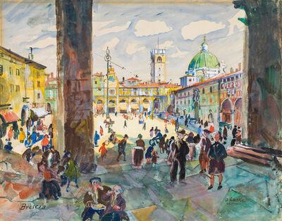 Oskar Laske, 'Brescia - Piazza della Loggia', 1931