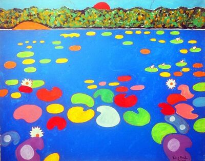 Wayne Ensrud, 'Serene Sunrise Over Waterlily Pond', 2021