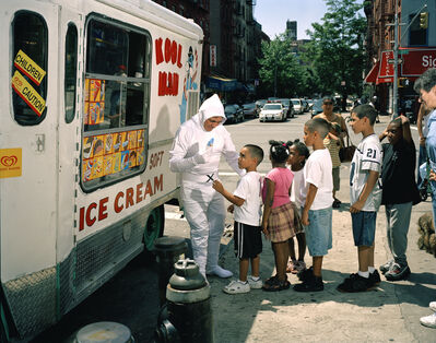 Dulce Pinzon, 'BOLIVAR ABRIL from Quito, Ecuador works as an ice cream man in New York. He sends 250 dollars a week.'