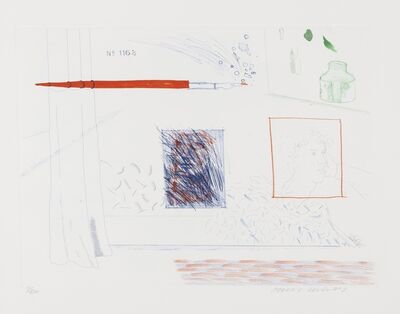David Hockney, 'Etching is the subject (S.A.C 191)', 1976-77