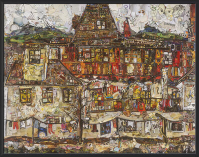 Vik Muniz, 'House with Drying Laundry, after Egon Schiele (Repro)', 2019