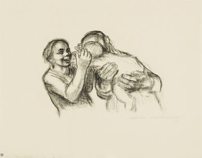 Käthe Kollwitz, 'Parents with Child, Final Version', 1931