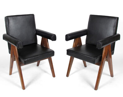 Pierre Jeanneret, 'Leather Armchairs', 1952-1956