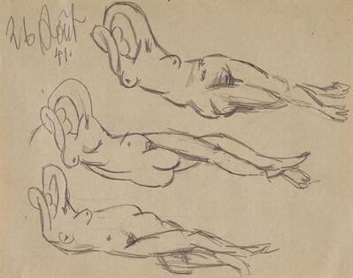 Pablo Picasso, 'L'aubade: Études de nus allongés (Dora Maar)', 1941