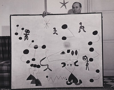 Sanford Roth, 'Joan Miro (With Painting)', 1950s