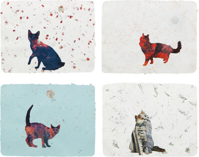 Christian Holstad, 'Four Works: (i) Scaredy Cats #10 (ii) Here Kitty Kitty #20 (iii) Here Kitty Kitty #10 (iv) Here Kitty Kitty #3', (i) , (ii) 2005; (iii) , (iv) 2004