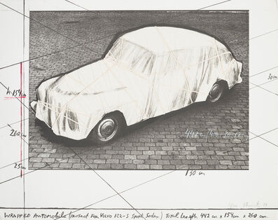 Christo and Jeanne-Claude, 'Wrapped Automobile, Project for Volvo 122 S Sport Sedan', 1984