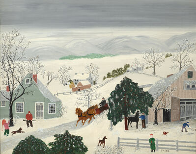 Grandma Moses, 'Winter Sports', 1947
