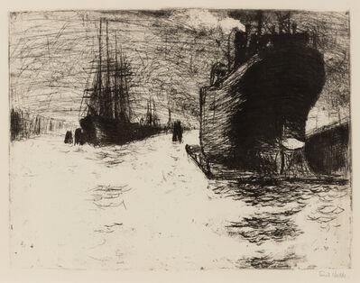 Emil Nolde, 'Hamburg, Reiherstiegdock (Hamburg Dry Dock)', 1910