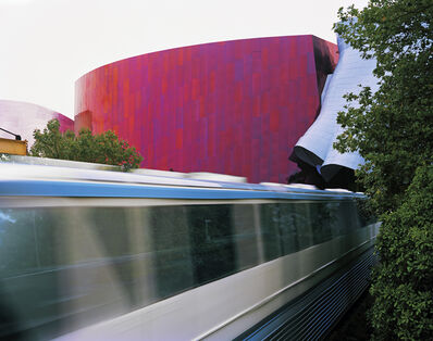 Jade Doskow, 'Seattle 1962 World's Fair, The Century 21 Exposition, Monorail with Gehry-designed EMP Museum', 2014