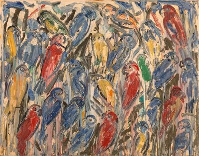 Hunt Slonem, 'Untitled (Caged Birds)', 1993