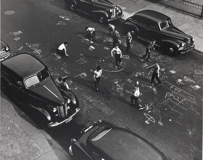 Arthur Leipzig, 'Chalk Games, New York City', 1950