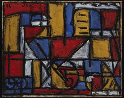 Julio Alpuy, 'Locomotora y maquinista', 1944
