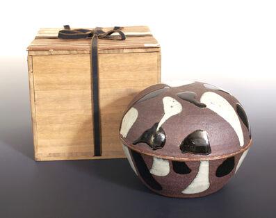 Shōji Hamada, 'Lidded bowl, trailed decoration', ca. 1930